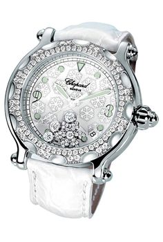 ❄ white chopard with moving diamonds... ❄