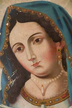 Mid 19th C. retablo of the Virgin by hallowground on Etsy