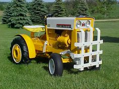 Cub Cadet 100 with Brinly Gard'n Cart Garden Tractor Attachments, Compact Tractors, Cub Cadet, Vintage Tractors, International Harvester, Cubbies, Lawn And Garden, Homestead, Cart
