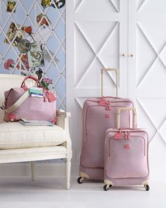 Bric's Luggage | Life Pearl Pink Spinner. Must have this collection!!!