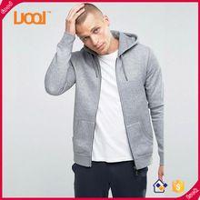 Гуанчжоу Luoqi Мужская одежда толстовки длинные рукава 65% хлопок 35% полиэстер толстовки мужчин равнине капюшоном куртки