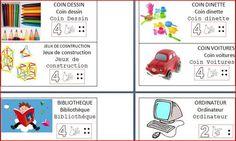La signalétique de coins jeux Free Frames, Petite Section, Kindergarten, Comics, Monsieur Madame, Blog, Document, Ps, Images
