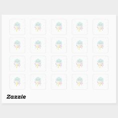 Shop Cloud Envelope seal sticker Baby shower sprinkle created by Anietillustration.