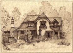 Portrait of House #344, A Storybook Cottage by Built4ever.deviantart.com on @deviantART