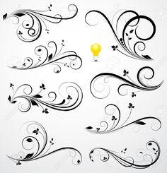 swirl flower border - Google Search