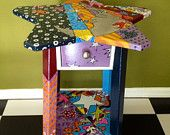 This unique one of a kind table is perfect for a childs room or an accent piece that will brighten up any space in your home.The colors are very vibrant and there is so much detail. Made with love . #handpaintedfurniture #kidsroom #accenttable # whimsical