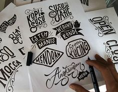 """Check out new work on my @Behance portfolio: """"ANGKRINGAN MENU #HandLettering"""" http://be.net/gallery/33935614/ANGKRINGAN-MENU-HandLettering"""