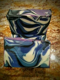Blue swirl by CLA Designs Soap Images, Lunch Box, Blue, Design, Bento Box
