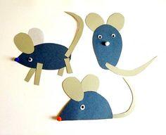 Mäuse aus Tonpapier - Tiere Basteln - Meine Enkel und ich - Made with schwedesign.de