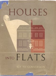 Houses into Flats - book cover issued by Ascot Water Heaters Ltd., 1948