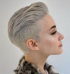 Undercut Haircut Women, Undercut Fade Hairstyle, Shaved Undercut, Undercut Styles, Pompadour Hairstyle, Undercut Pixie, Female Fade Haircut, Undercut Back, Female Undercut Long Hair