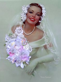 picture Bride Silk ribbon by SilkRibbonembroidery on Etsy