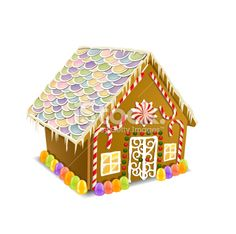 Gingerbread House Royalty Free Stock Vector Art Illustration