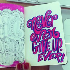 Never ever... #lettering #letteringdaily #doodle #script #moleskine - @magicmaia- #webstagram