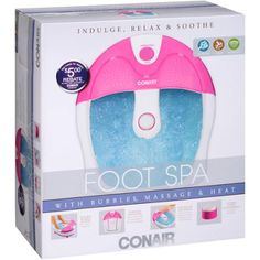Conair Foot Spa with Bubbles, Massage & Heat, Pink - Walmart.com - tenant