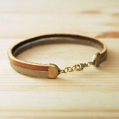 Leather Bracelet in Tan with Pink and Blue The by sonofasailor, $28.00