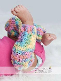PDF Pattern - Leg Warmers - Newborn, 3-6m, 6-12m, 12-24m, 2-5y