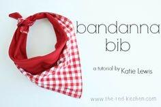 the red kitchen: Bandanna Bib Tutorial