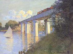 """""""il ponte della ferrovia ad argenteuil """", 1873-1874, olio su tela, Parigi, Musée d'Orsay."""