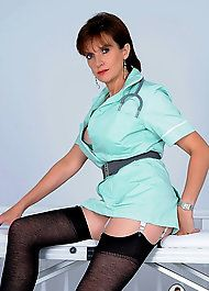 Busty  Mature Nurse know to help