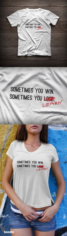 Check out this cool new inspirational tees from Teedle! Girly Quotes, Cute Quotes, Swagg, Cool Shirts, Dress To Impress, Favorite Quotes, Graphic Tees, Cute Outfits, Inspirational Quotes