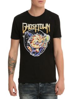 Ghost Town Cat Wizard  T-Shirt
