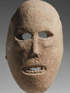 9,000 year old Neolithic limestone mask found in the Judean desert