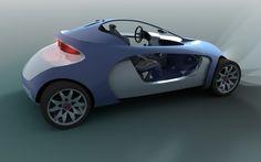 Mitsubishi Egg concept car designed by Sofian Tallal