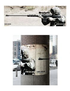 WHAT GOES AROUND COMES AROUND: STOP THE IRAQ WAR Advertising Agency: Big Ant International, New York, USA