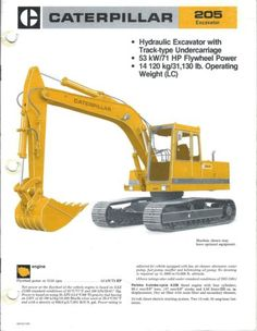 Heavy Construction Equipment, Heavy Equipment, Hydraulic Excavator, Crawler Tractor, Mining Equipment, Old Ads, Civil Engineering, Big Time, Caterpillar