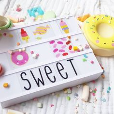 """1,020 Likes, 13 Comments - A Little Lovely Company™ (@alittlelovelycompany) on Instagram: """"It will be a SWEET week! #sweetsandtreats #thegoodqualitylightbox #freeadapteradded…"""""""