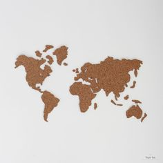 WallPops Cork Map Pinboard at Lowe's. This peel and stick map of the world is also a fully functional corkboard. Enjoy the functionality of a cork board with a stylish and modern world map. Cork World Map, Cork Map, World Map Wall, Map Wall Art, World Map Decal, Deco Nature, Idee Diy, Wall Decal Sticker, Diy And Crafts