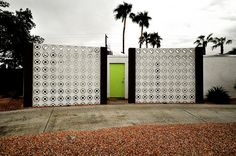 Palm Springs privacy wall