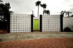 Palm Springs privacy wall