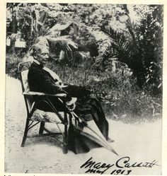 MARY CASSATT. Famous artist of the Gilded Age. Photo of her in 1913