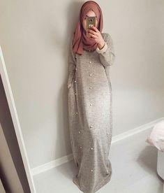 Plus size Muslim Adult diamond beading Robe Musulmane Turkish Dubai Abaya Muslim Robe Arab Worship Service wholesale Islamic Fashion, Muslim Fashion, Modest Fashion, Hijab Gown, Hijab Outfit, Mode Kimono, Arabic Dress, Hijab Casual, Simple Hijab