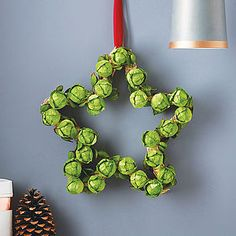 Star Brussels Sprout Wreath - inspired christmas gifts