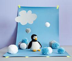 Sada na háčkování Tučňák (DIY, knitting, crocheting, penguin)