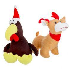 Plush Reindeer And Turkey Assorted Toys - Christmas Pet - Christmas Presents - Christmas Pet Christmas Presents, Christmas Animals, Reindeer, Your Pet, Pikachu, Dinosaur Stuffed Animal, Turkey, Plush, Toys