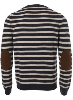 navy stripes & elbow patches