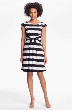 {Bow Detail Stripe Dress} Tahari - love this frock!