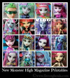 new free monster high printables