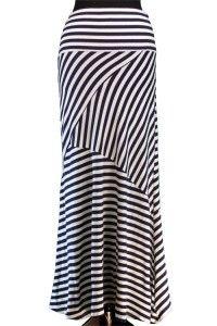 Navy Crisscross Striped Maxi