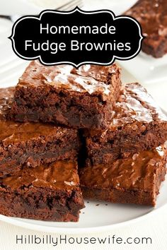 Hillbilly Housewife Cake Brownies