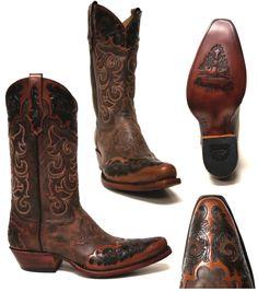 Men's COWBOY BOOTS Brown Shoes | Men Shoes | Pinterest | Boots ...