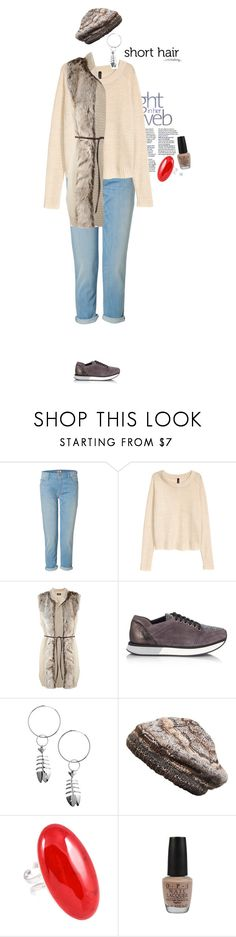 """""""my real outfit today"""" by akchen ❤ liked on Polyvore featuring Mother, H&M, Eddy Daniele, Royal Robbins and OPI"""