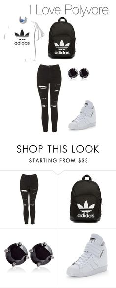 """School Type"" by vibe-with-antionette on Polyvore featuring Topshop, adidas Originals and Belk & Co."
