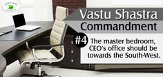 The managing director of the company equates with the head of the household, according to Vastu principles.