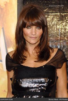Brown Hair  Helena Christensen