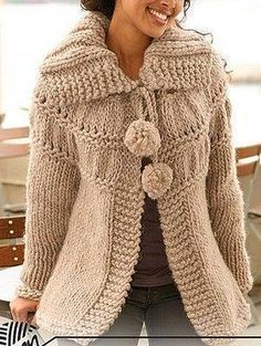 Free knitting patterns and crochet patterns by DROPS Design Knitting Patterns Free, Free Knitting, Free Pattern, Crochet Cardigan, Knit Crochet, Knit Vest Pattern, Drops Design, Knit Jacket, Santa Clara